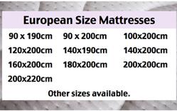 European Size Mattresses