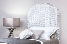 Ancona Bespoke Curved Single Headboard - fabric choice