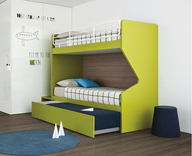 Battistella Nidi Gino Maxi Bunk Beds with pull out guest bed