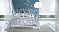 Ciacci Papillon wrought iron bed