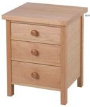 Cotswold Caners Cherington 3 drawer ash bedside cabinet