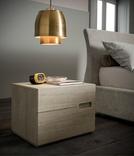 Dall'Agnese Asola 2 Drawer Oak Bedside Cabinet - 6 finishes