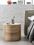 Dall'Agnese Christal Oak 2 Drawer Bedside Cabinet