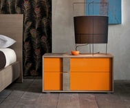 Dall'Agnese Flipper 2 Drawer Bedside Cabinet - in many colours