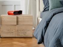 Dall'Agnese Tip Tap Oak 2 Drawer Bedside Cabinet