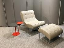 Designer Swivel Armchair & Foot stool Dall'Agnese Virgola EX-DISPLAY Sale Item