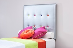 Madison Buttoned upholstered single headboard - colour choice