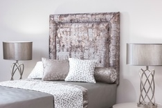 Monaco upholstered single headboard - colour choice