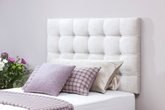 Monza modern buttoned single headboard - colour choice