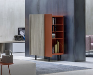 Novamobili Sessanta Modern Sideboard with open bookcase