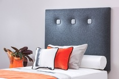 Osaka modern upholstered single headboard - colour choice