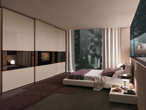 Presotto Dama wardrobe with inbuilt TV