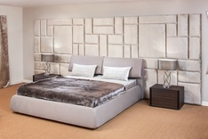 Padded Wall Panels upholstered headboard panels custom made | bedroom wall panels