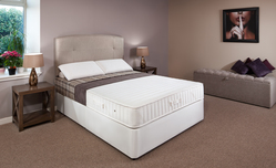 Profile Coil Sprung Double Divan Bed (Medium) 137cm