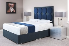 Radial Modern Custom Upholstered Bed
