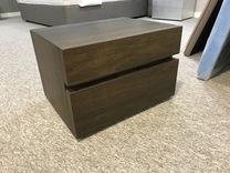 SALE Ex-Display Dark Oak Presotto Club bedside cabinet
