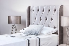 Sienna Winged Style bespoke single headboard