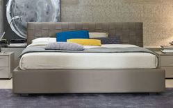 SMA Mobili Lido leather storage bed