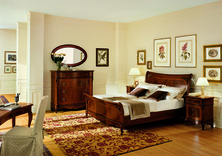 Dall'Agnese Sorrento walnut bed