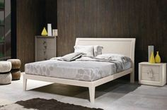 Tomasella Medea Classic Wood bed with colour choice