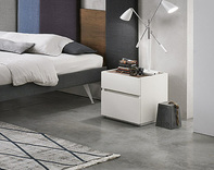 Tomasella Replay Modern 2 Drawer Bedside Cabinet - many finishes
