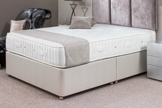 Trend Upholstered Double Divan Bed with Choice of Fabrics