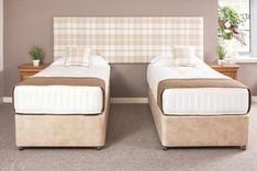 Twin Bed & Headboard Set - Fabric choice