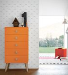 Woody 6 Drawer Tallboy with legs