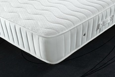 Zip Linked Medium and Extra Firm Coil Sprung Mattress with memory foam
