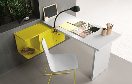 Battistella Nidi Desk and Wall Unit