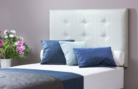 Belle upholstered single headboard - colour choice
