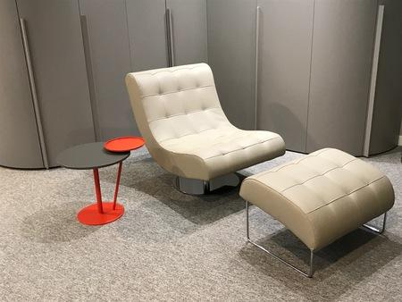 Designer Swivel Armchair & Foot stool Dall'Agnese Virgola