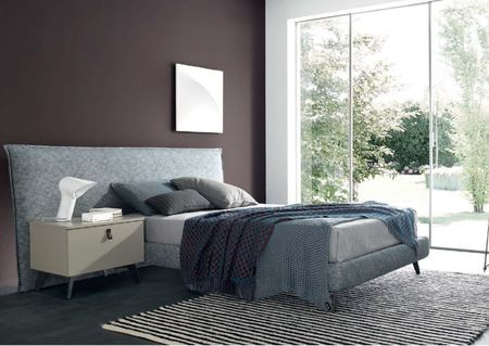 Lithos Modern Upholstered Single Bed by SMA Mobili