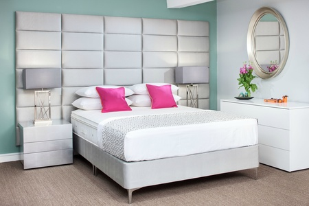 Oscar Custom Upholstered Wall Panels and matching Boutique Bed base