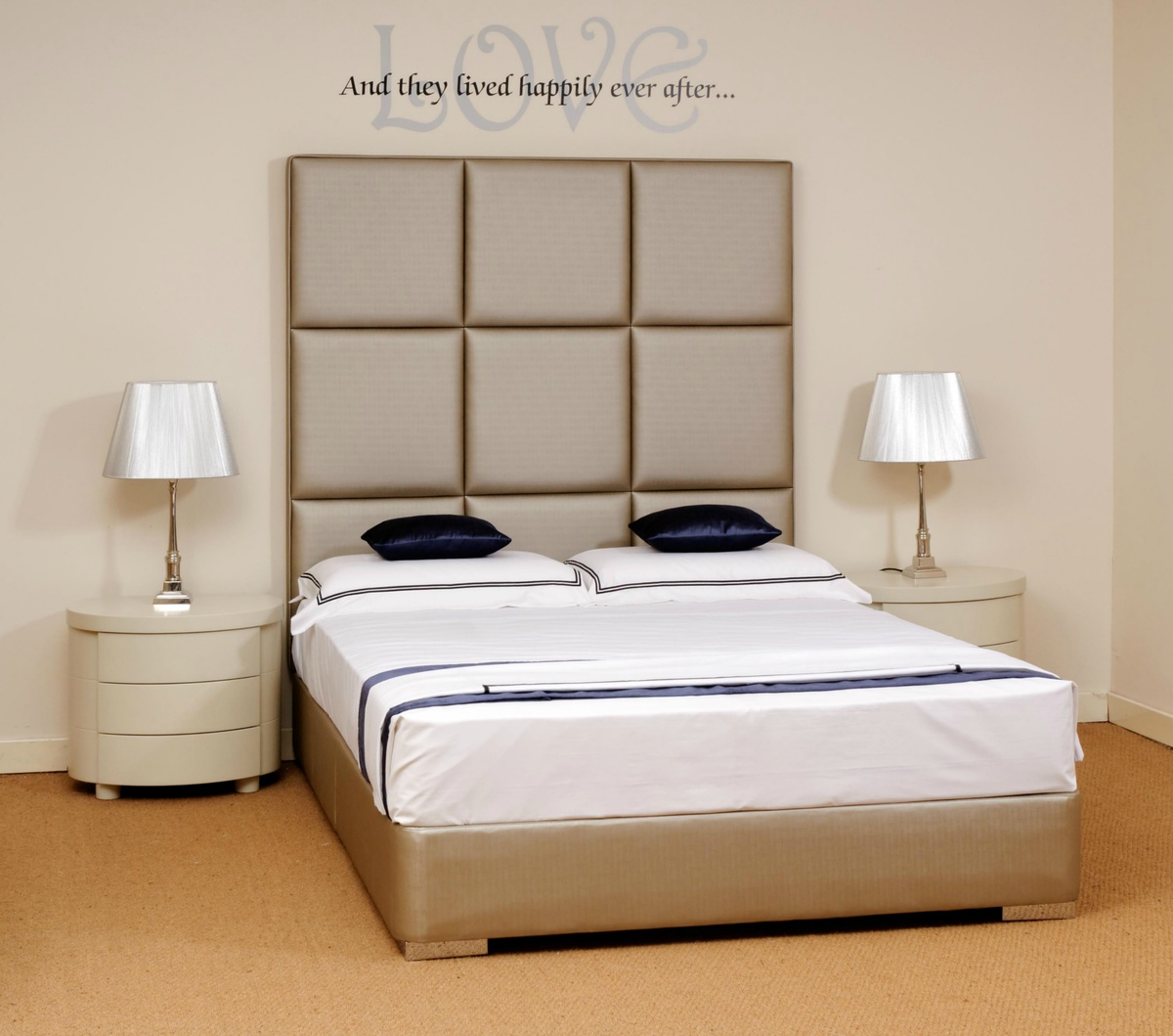 Stylish Modern Beds Faux Leather Beds Custom Tall