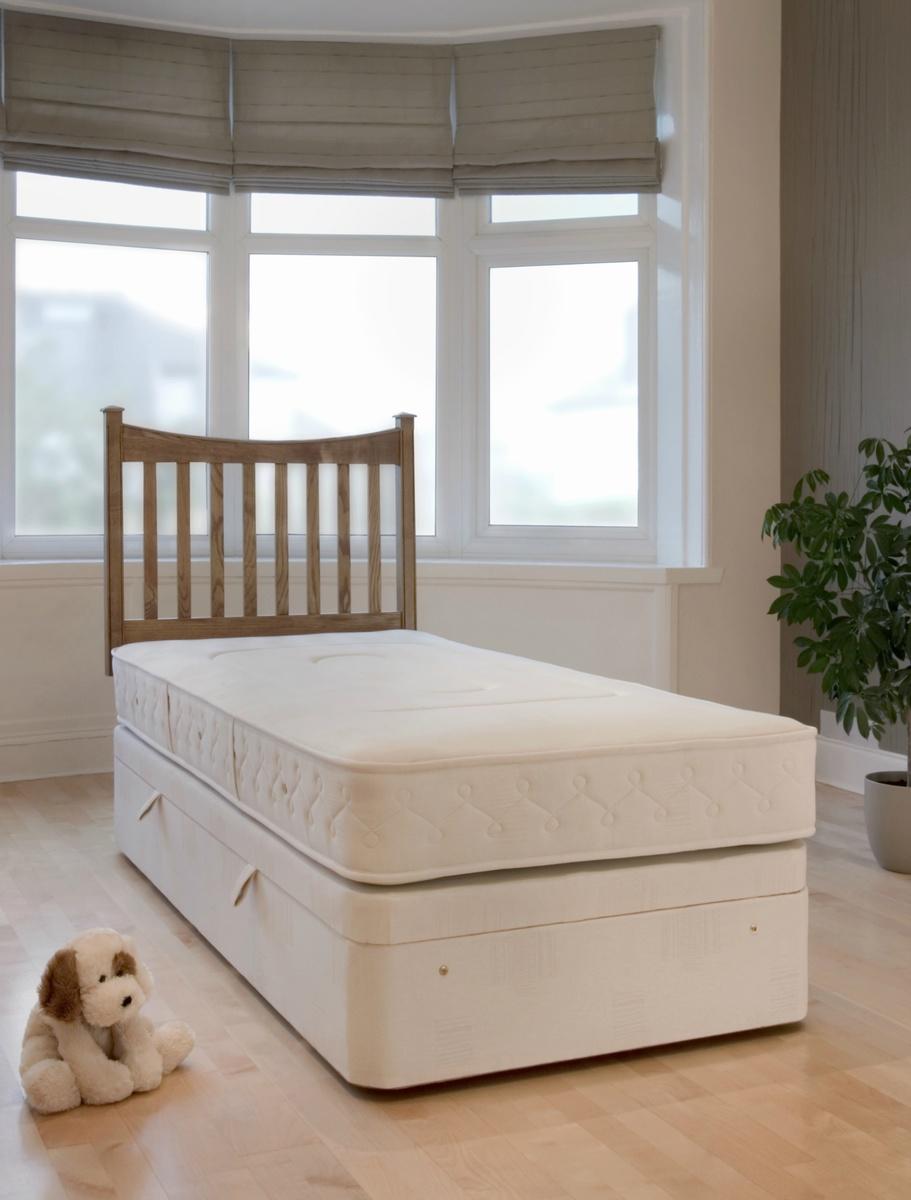 Hampton Reflex Ever Firm Coil Sprung Single Divan Bed (Firm) 90cm