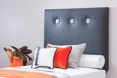 Osaka modern upholstered single headboard - colour choice