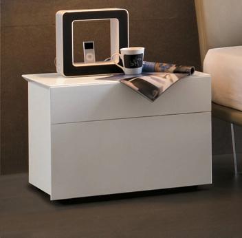 Tomasella Pass 2 Drawer bedside cabinet