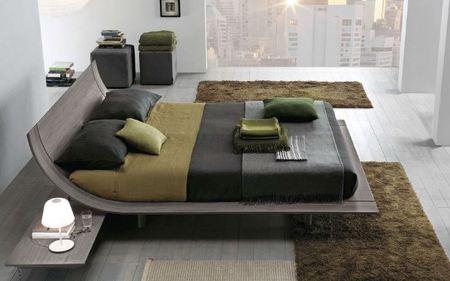 Presotto Aqua bed in aged oak