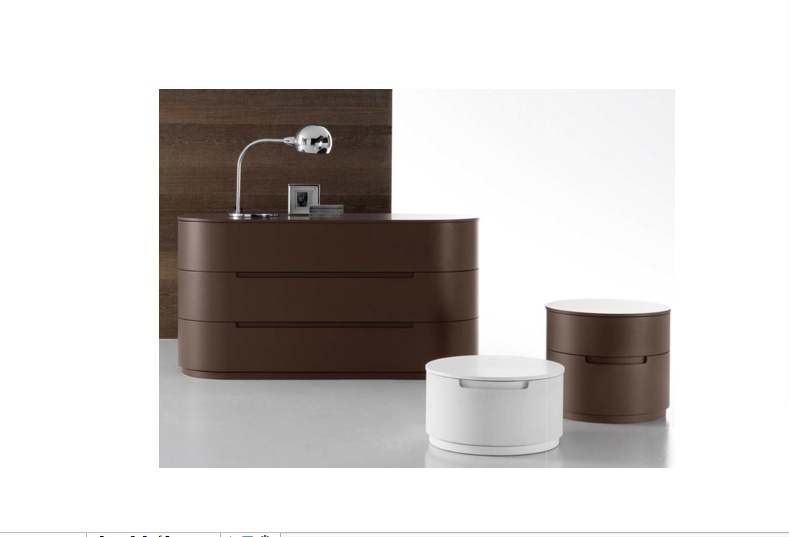 Presotto Globo Round Bedside Cabinet