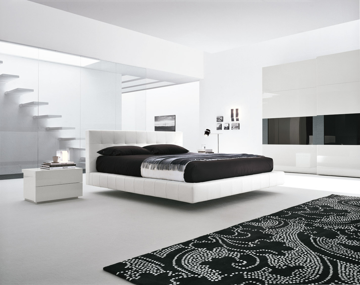 Presotto Omega white leather bed | Luxury leather beds | Robinsons Beds