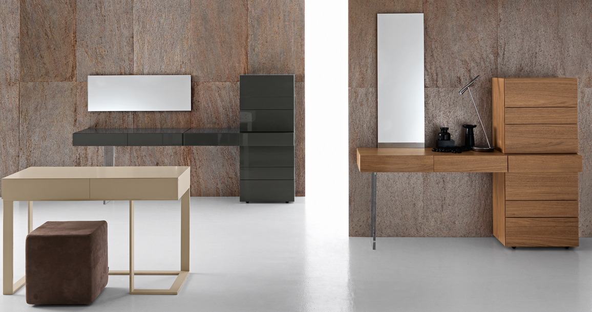 Single beds with drawers - Presotto Swing Dressing Table Contemporary Italian
