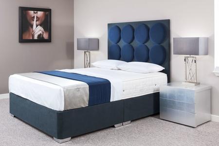 Radial Modern Custom Upholstered Bed