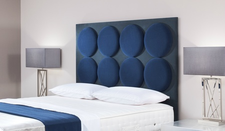 Radial Modern Custom Upholstered Headboard