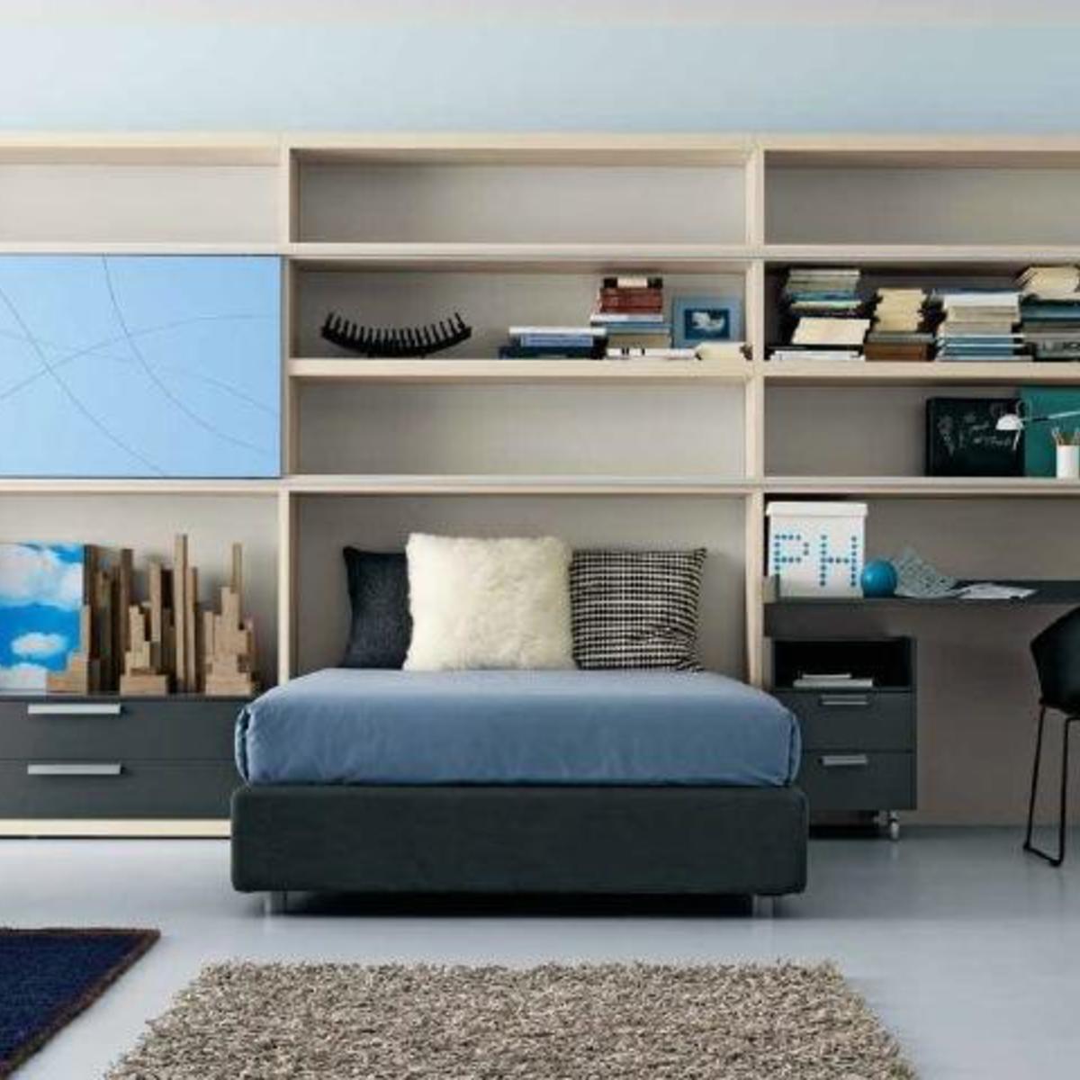 Robinson Blue  Ottoman bed