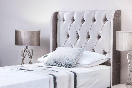 Luxury Single Headboards With Wings Colour Choice