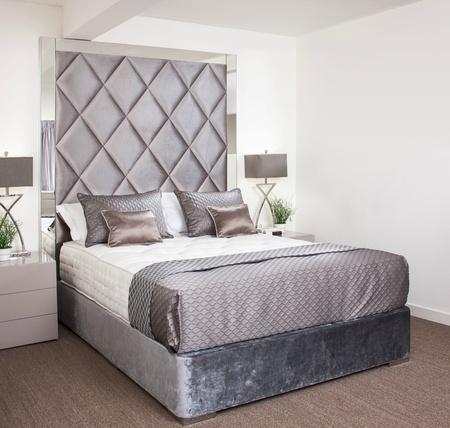 Tiffany Bespoke Bed with Mirrored Headboard