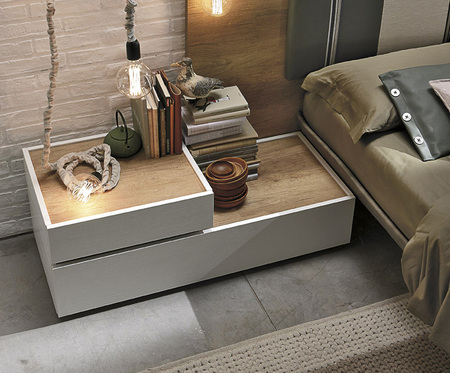 Tomasella Replay Modern Bespoke Bedside Drawers Composition A - many finishes
