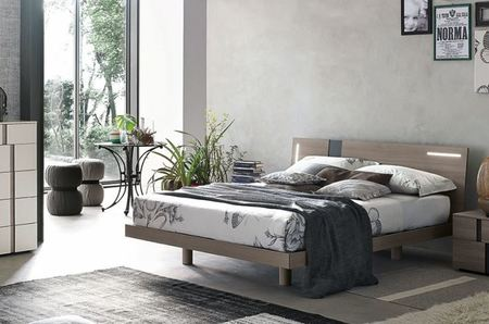 Tomasella Tablet Modern Bed with built in lights - range of colours
