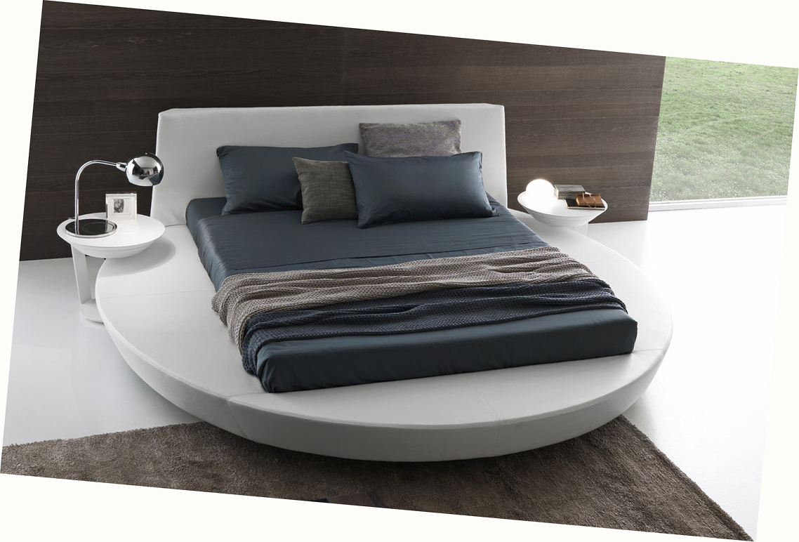 Presotto zero sunrise round platform bed low profile for Storage beds uk